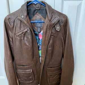 Lucky brand leather jacket 6